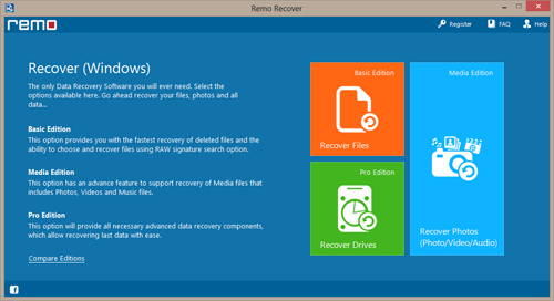 Recover Flash Drive - Main Screen